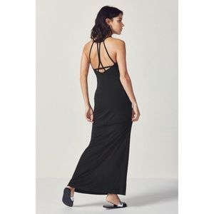 Black Ladder Strappy Back Maxi